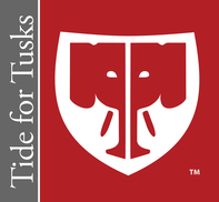 Tide for Tusks logo, which features a stylized illustration of an elephant