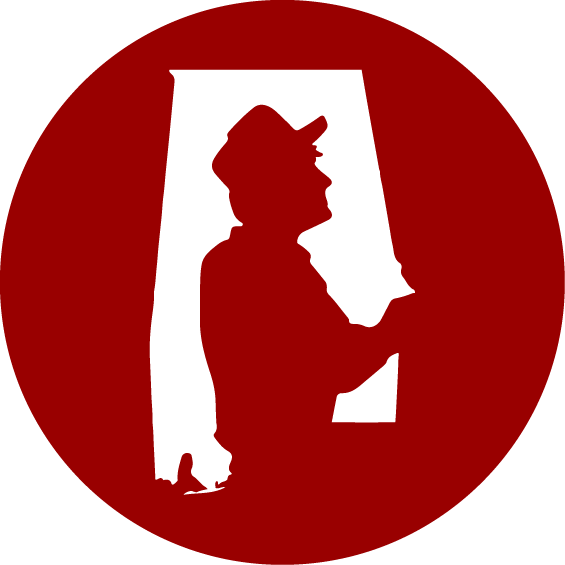 stylized version of Discovering Alabama logo